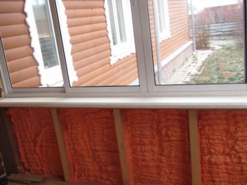 Утепление балкона НПУ POLYNOR